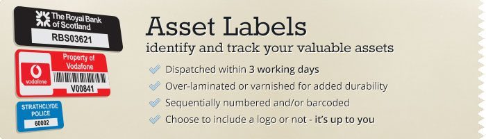 Asset Labels - identify and track your valuable assets