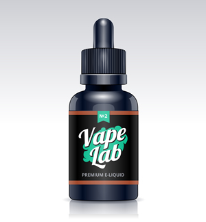 e liquid Bottle with label